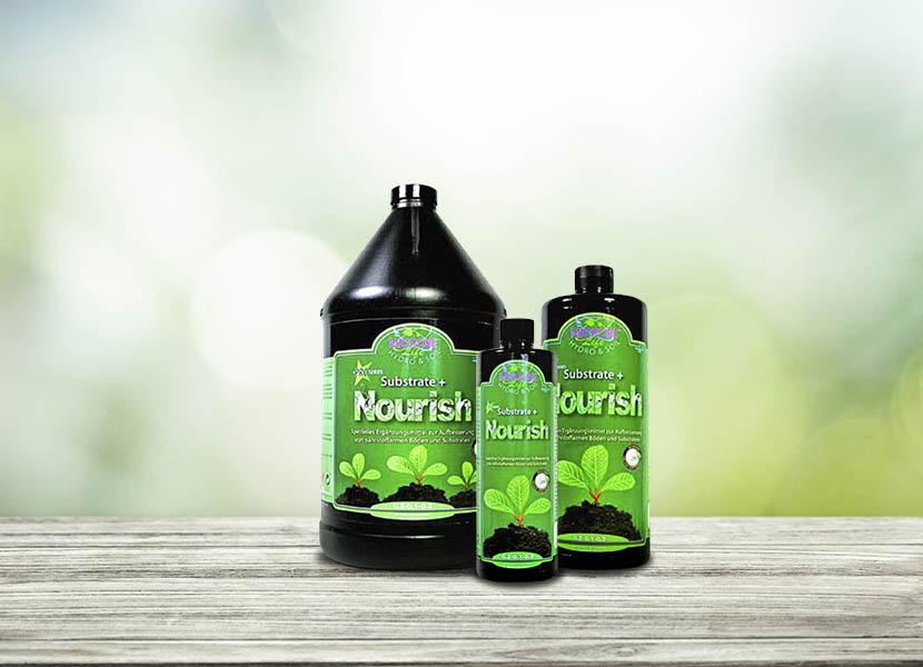 Nourish - El Plus de Nutrientes naturales para tu tierra- Microbe Life Hydroponics - Tecnología innovadora de crecimiento vegetal